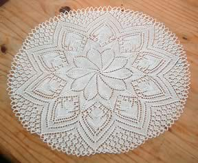 From one of Gloria Penning's Knitted Heirloom Lace books