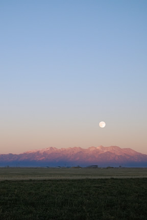 Moonrise over Blanca