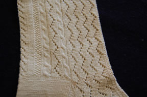 pattern detail, cables and lace!