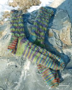 The Knittery merino in Wildflowers