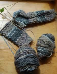Milanese Lace socks in Austermann