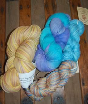 Lovely yarns from Crazy Monkey Creations in Colorado Springs!