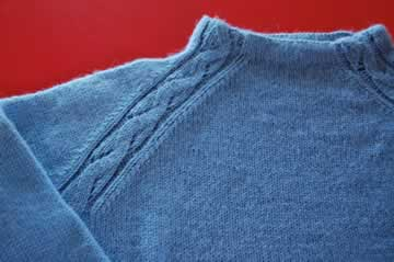 Neck detail on the Refined Raglan