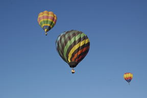 Hot air balloon festival in Taos