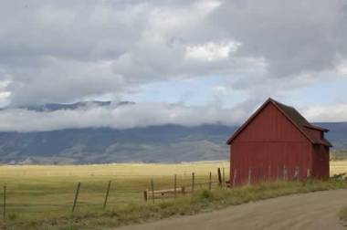 Red barn in Creede